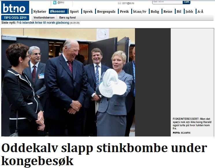 King Harald stink bomb