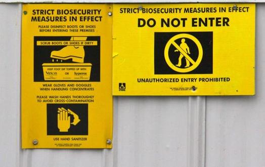 Biosecurity do not enter from Alex's blog June 2012