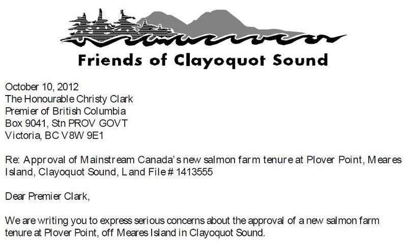 FOCS letter to Premier Clark Oct 2012