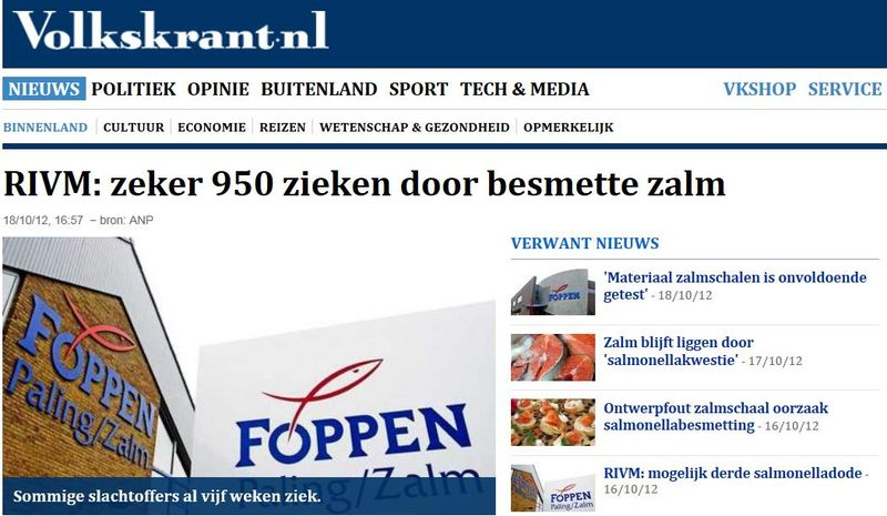 Foppen Volkskrant 18 Oct on 950 infected