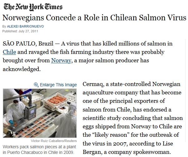 NY Times on ISA in Chile