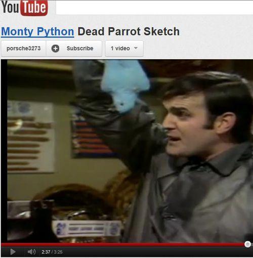 Monty Python Dead Parrot video 10