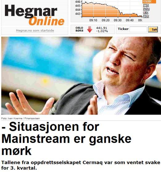 Cermaq Hegnar Online 23 Oct 2012