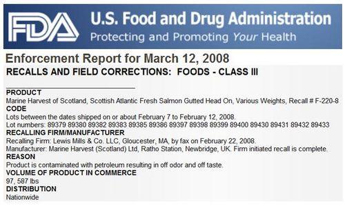 MH FDA enforcement report 2008