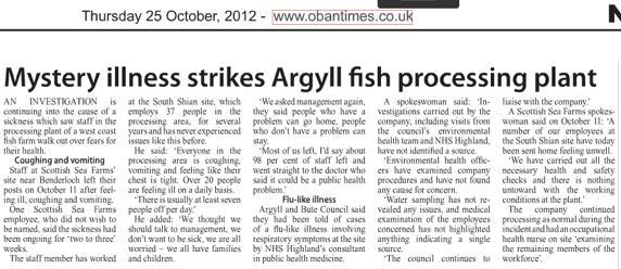 Scottish sea farms #25 Oban Times 25 Oct