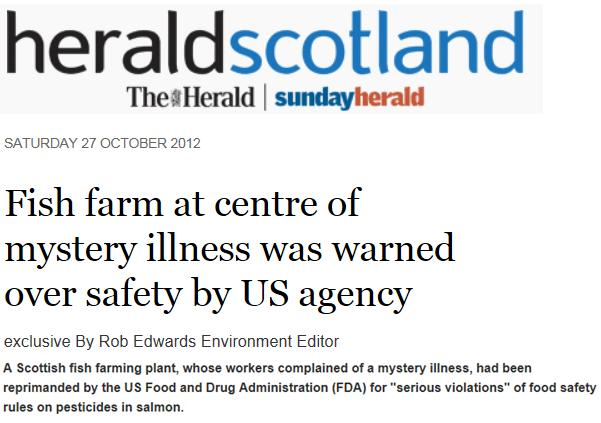 Scottish sea farms #34 Sunday Herald 28 Oct