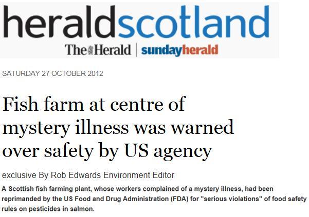 Scottish sea farms #34 Sunday Herald 28 Oct