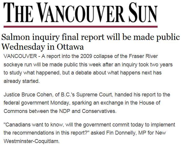Vancouver Sun on Cohen 29 Oct