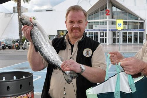 Kurt with salmon