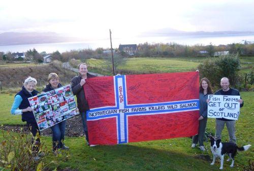 Wild Salmon First flag #1 Scotland Skye