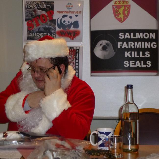 Photo #8 Santa on phone