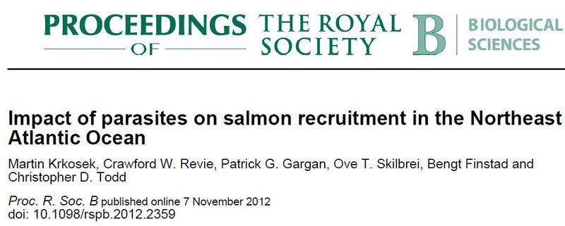Royal Society paper sea lice