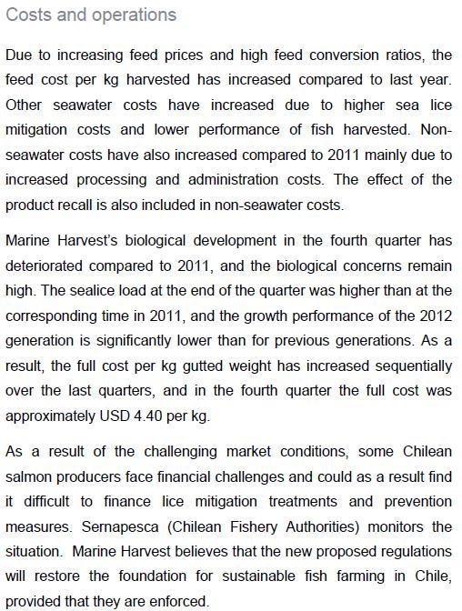 Q4 2012 report #5 chile