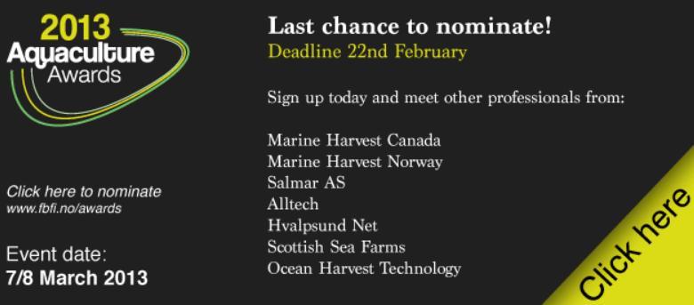 Aquaculture Awards 2013 #1 last chance