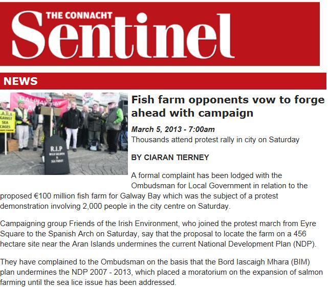 Connacht tribune March 2013