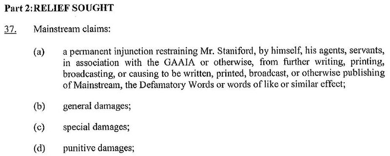 Appeal factum nature of order sought Jan 2013 #2 injunction