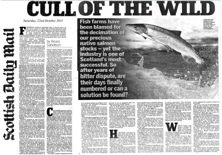Daily Mail on Cull of the Wild