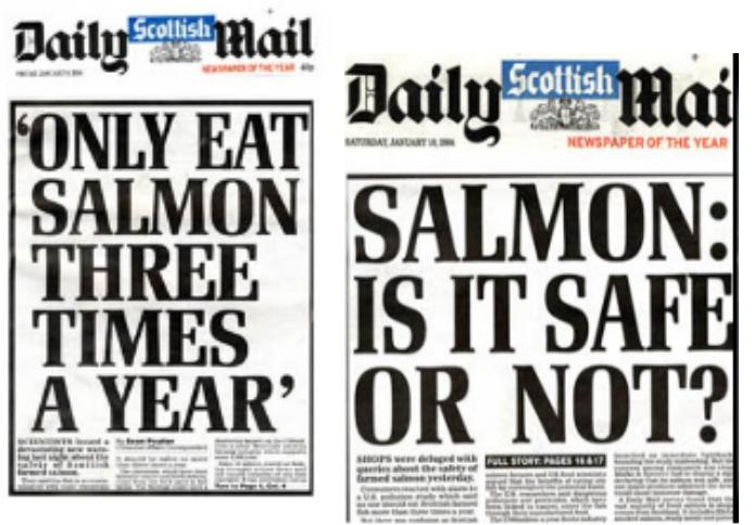 Daily Mail on Safe Salmon 2004