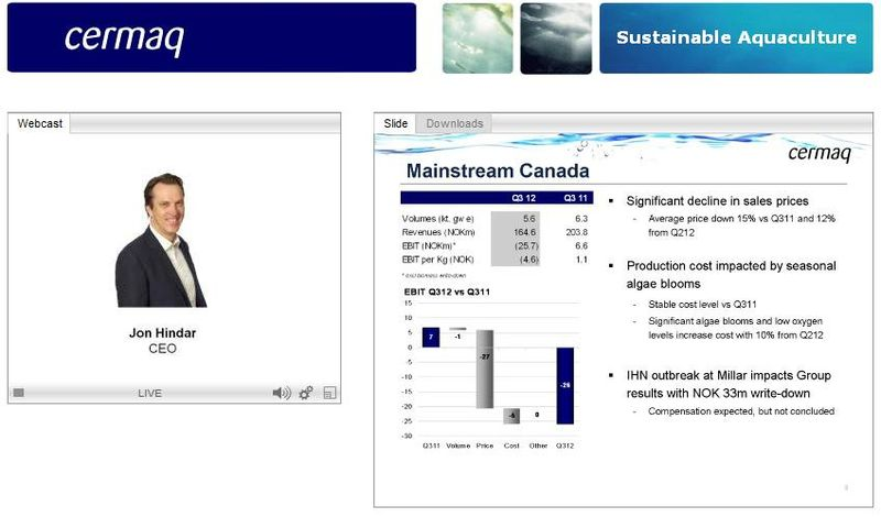 Cermaq Q3 2012 presentation #6 Canada