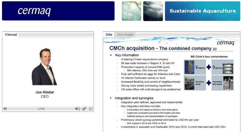 Cermaq Q3 2012 presentation #8 chile expansion