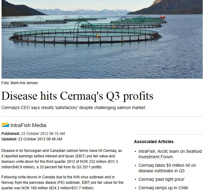 Cermaq Intrafish 23 Oct 2012