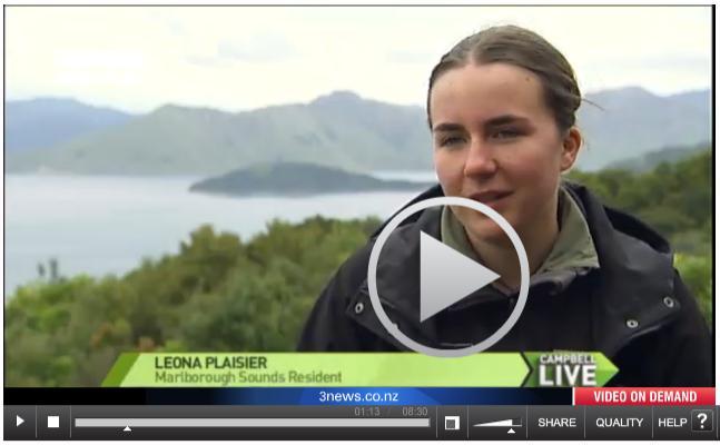 3 News on Leona 18 Oct 2012 #2 with Leona
