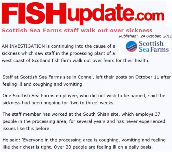 Sickening Fish Update 24 Oct 2012