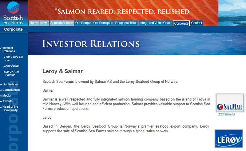 Scottish Sea Farms Leroy Salmar