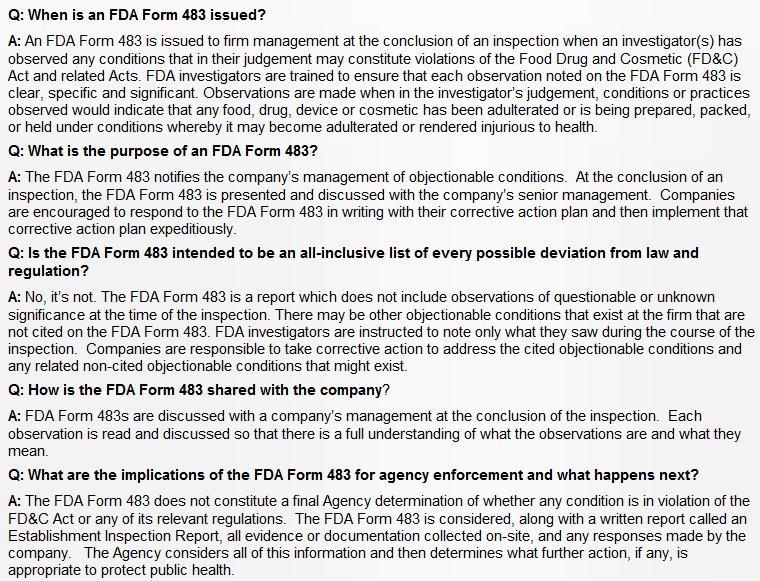 Scottish sea farms #20 FDA 483