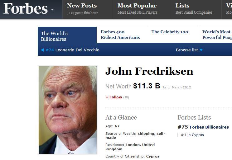 Blog #5 Forbes fredriksen