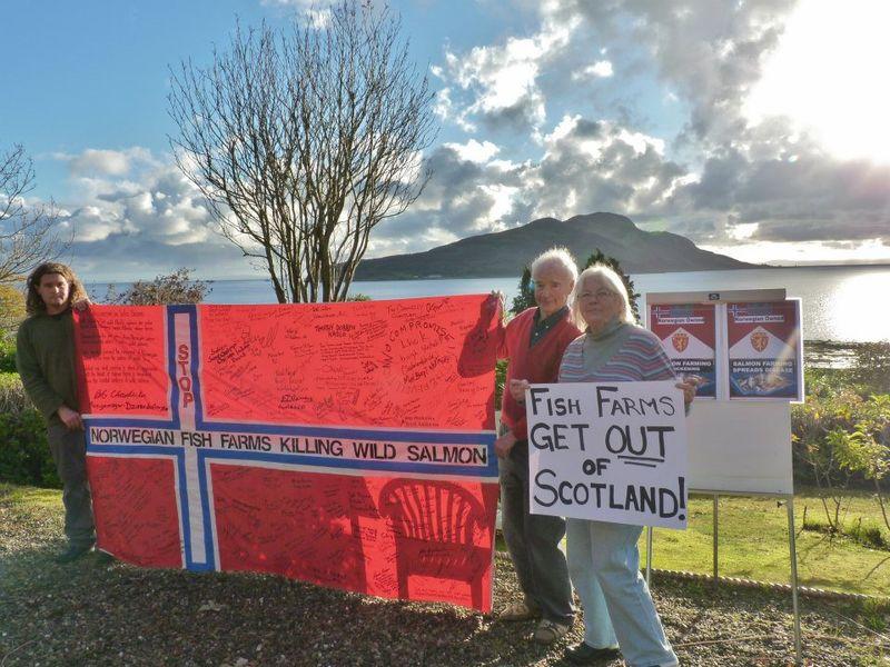 Arran #17 flag with Sally John & Don