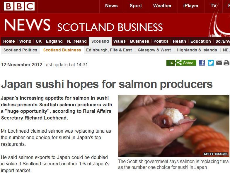 Japan BBC News sushi