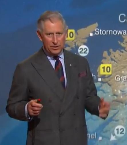 Prince Charles reading weather