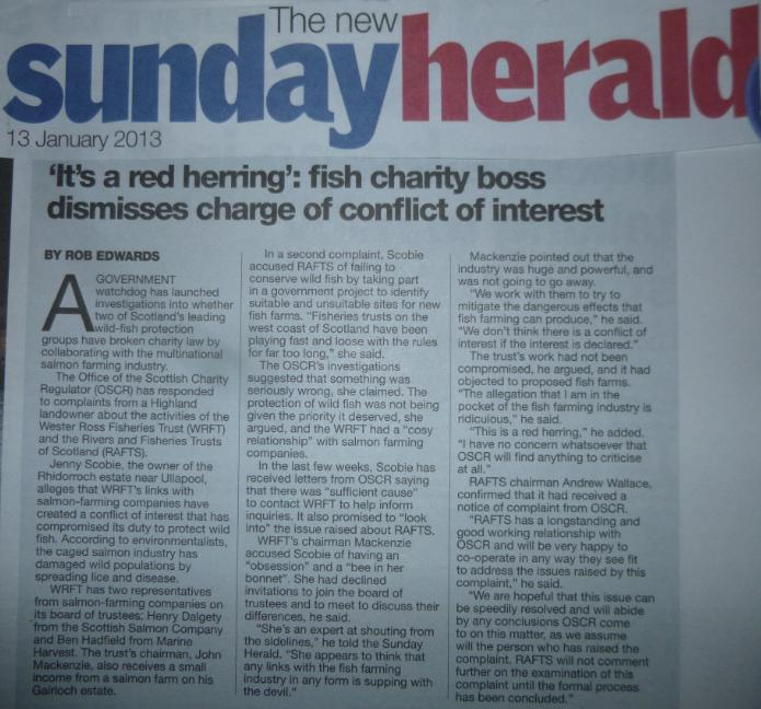 OSCR Sunday Herald 13 Jan 2013