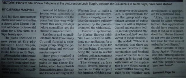 P&J on Loch Slapin withdrawal Jan 2013 #2