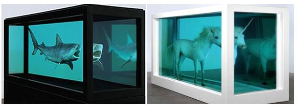 Damien Hirst shark and horse