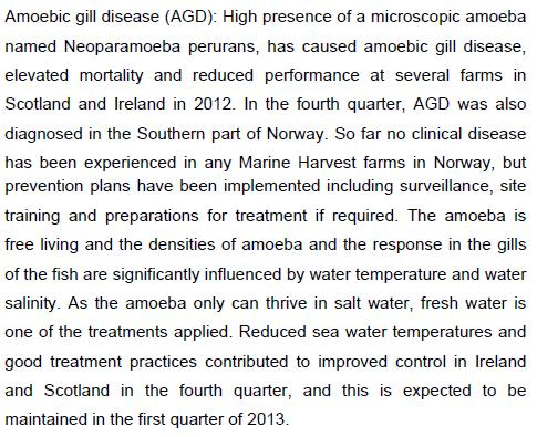 Q4 2012 report #8 biological risks