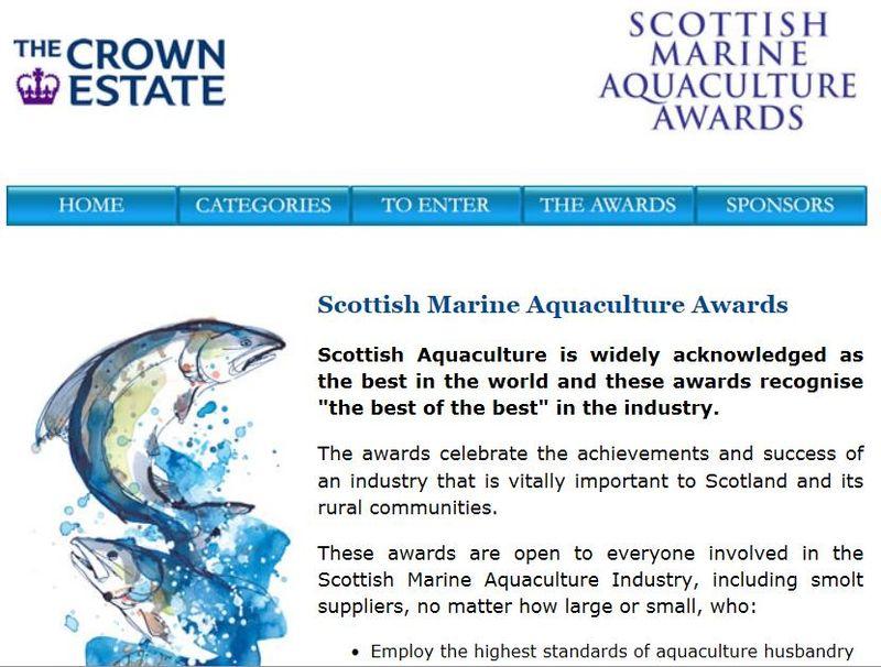 Aquaculture awards Crown Estate 2013