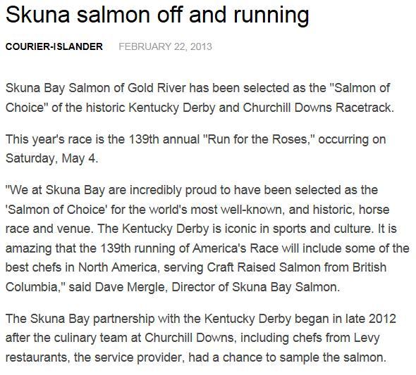 Skuna Bay Kentucky article