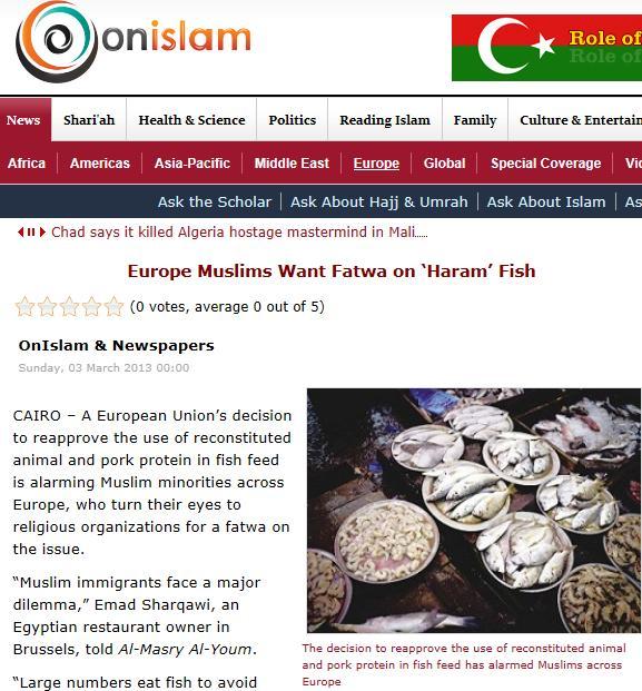 Fatwa Salmon #1 On Islam March 2013
