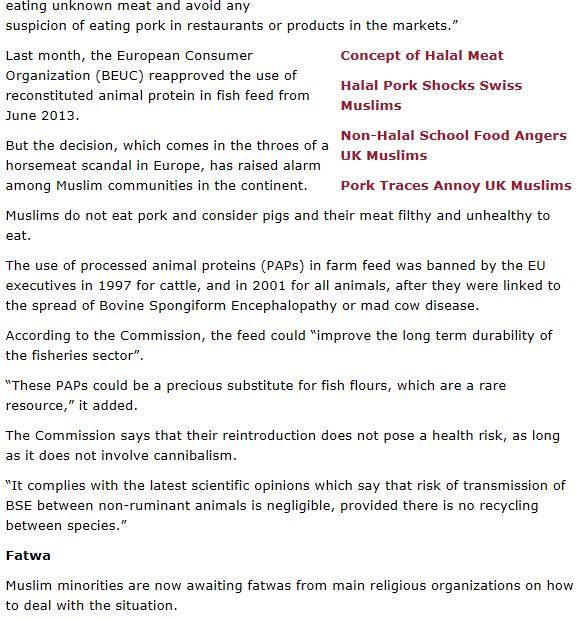 Fatwa Salmon #2 On Islam March 2013