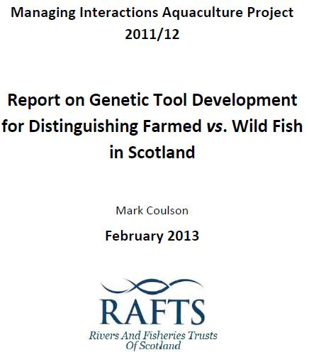 RAFTS Genetics Report Feb 2013 #1