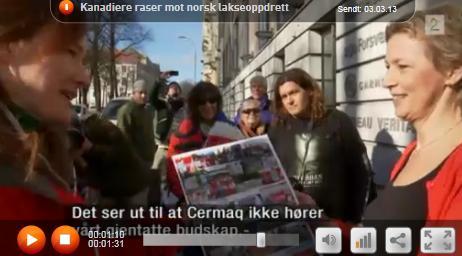 Elena on TV2 delivering the declaration
