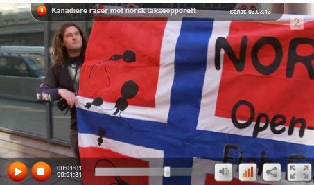 Derek's flag on TV2