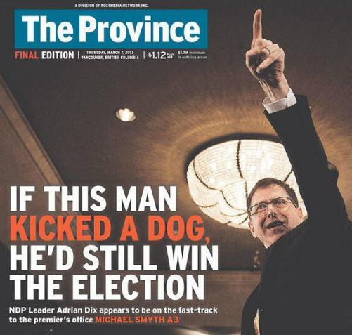 Adrian Dix kicked a dog
