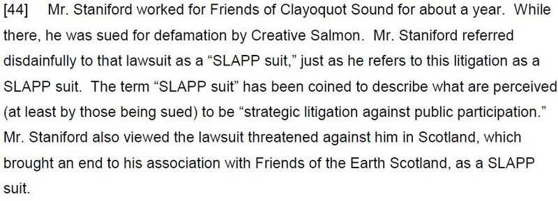 SLAPP Judgment Adair