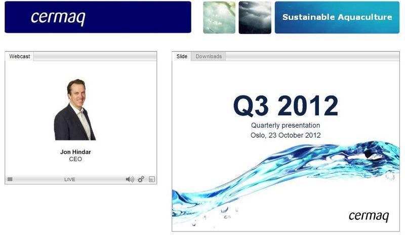 Cermaq Q3 2012 presentation #2