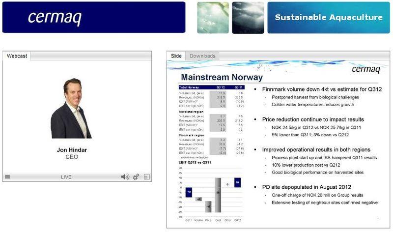 Cermaq Q3 2012 presentation #5 Norway
