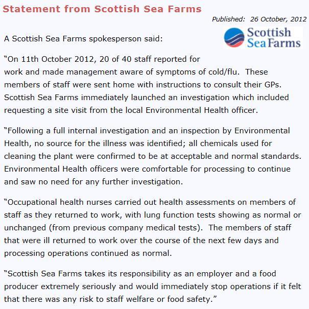Scottish sea farms #29 statement 26 Oct
