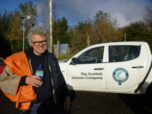 Roc with SSC truck outside Mull hearing